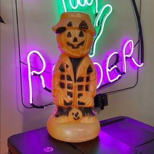 *True Vintage Halloween Scarecrow JOL Blowmold